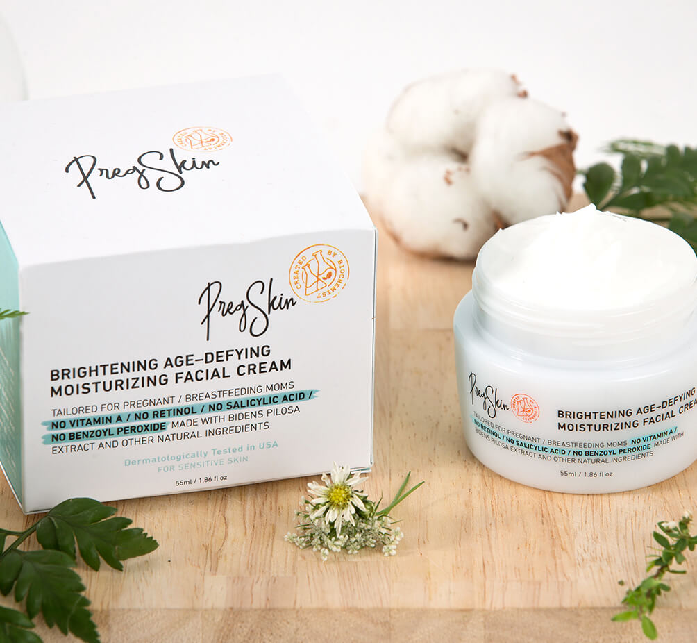 PregSkin Brightening Age-Defying Moisturizing Facial Cream